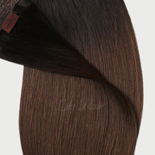 Load image into Gallery viewer, #1B/4 Ombre Color Hair Tape In Hair Extensions