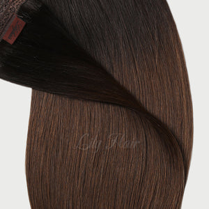 #1B/4 Ombre Color Hair Tape In Hair Extensions