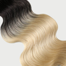 Load image into Gallery viewer, #1B/613 Ombre Color Halo Hair Extensions