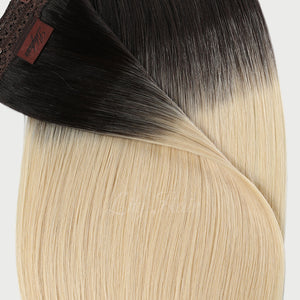 #1B/613 Ombre Color Micro Ring Hair Extensions