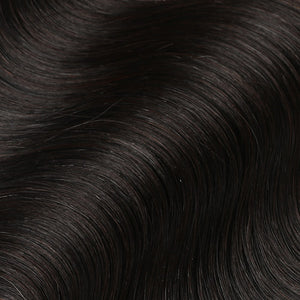 #1B Espresso Black Color Halo Hair Extensions