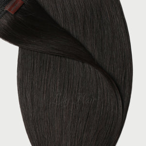 #1B Espresso Black Color Micro Ring Hair Extensions