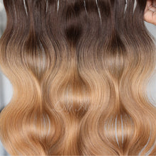Load image into Gallery viewer, #2/12 Ombre Color Fusion Hair Extensions