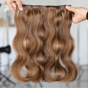 #4/8 Highlights Color Micro Ring Hair Extensions