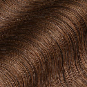 #6 Cappuccino Brown Color Fusion Hair Extensions