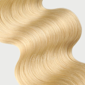 #613 Lightest Blonde Color Clip-in hair Extensions-11pc.
