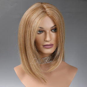 Queenie 100% Human Hair Monofilament Wigs H8/26
