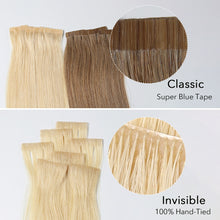 Load image into Gallery viewer, #8/12 Highlight Color Hair Tape In Hair Extensions