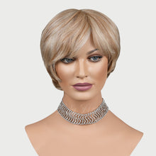 Load image into Gallery viewer, Mykea 100% Human Hair Pixie Monofilament Wigs H12/613