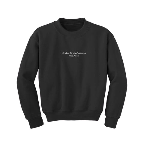 Embroidered Crewneck - Black-The Aces