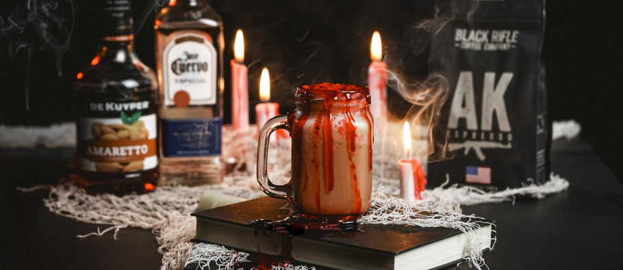 HALLOWEEN COFFEE COCKTAIL: BLOODY COFFEE MILKSHAKE SHOTS