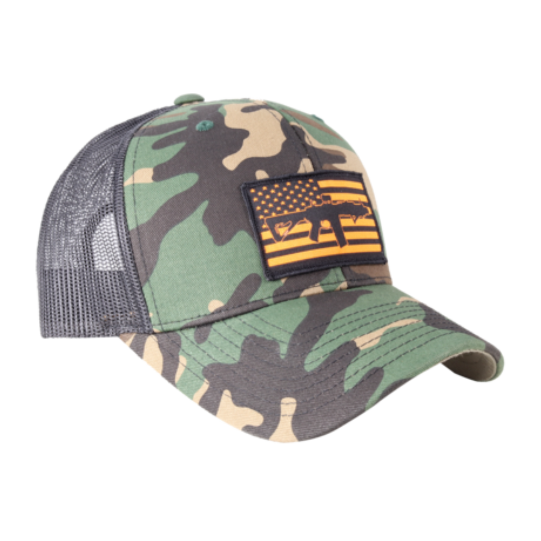 AR Flag Patch Trucker Hat Orange AR / Camo