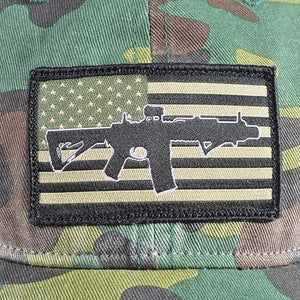 Unstructured Multicam cap subdued sbr flag