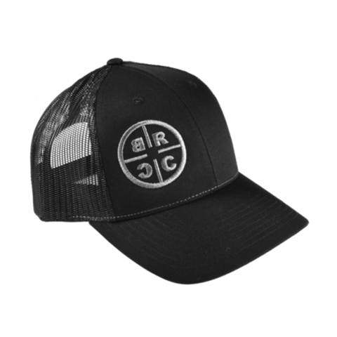 BRCC Circle Logo Trucker Hat Black w / Black Mesh
