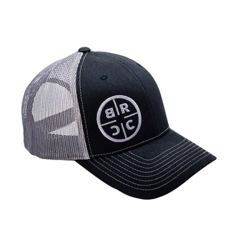 BRCC Circle Logo Trucker Hat Black w / Grey Mesh