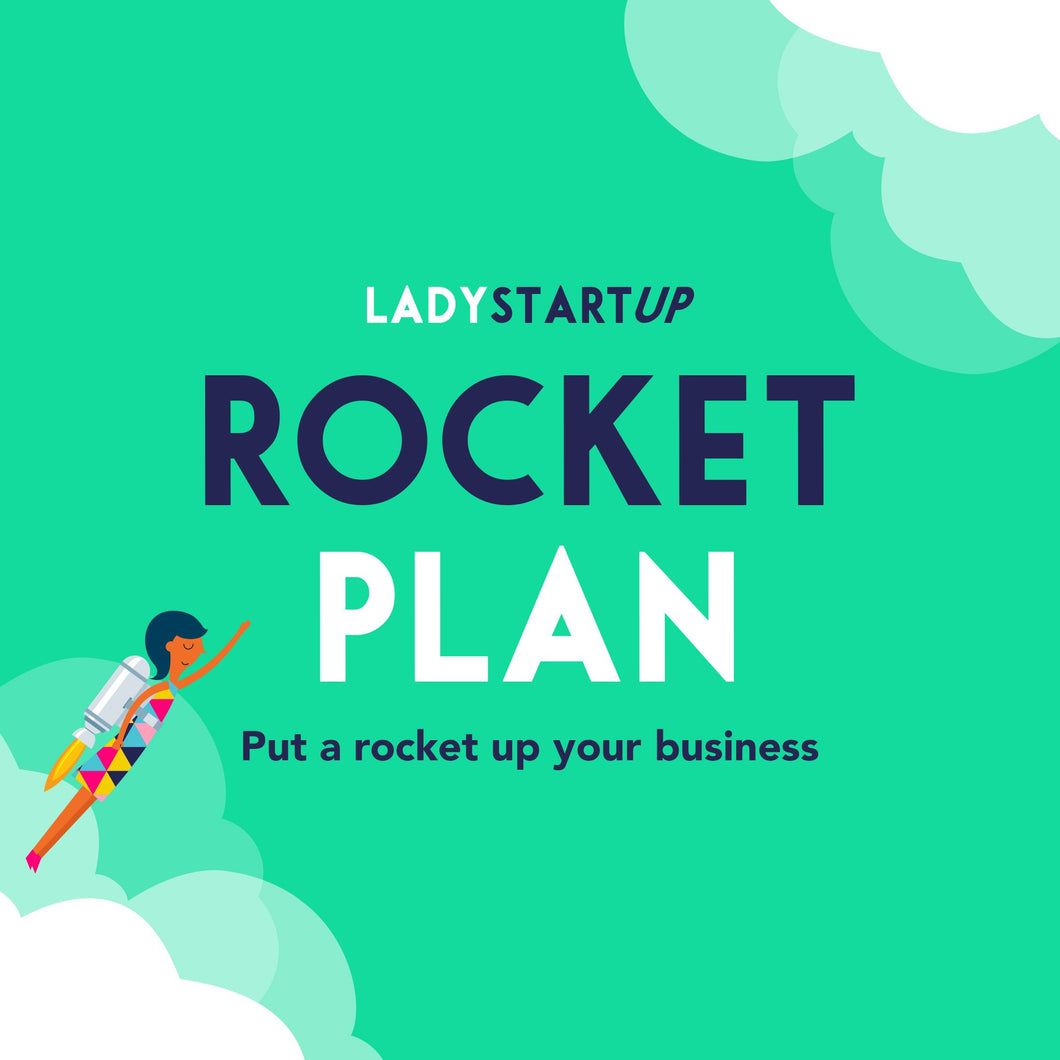 Lady Startup Rocket Plan (4 x Payment $174.25 with Afterpay) - May 2021