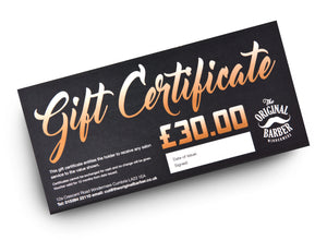 £30 INSTORE GIFT CERTIFICATE