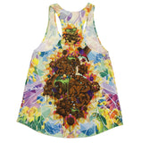 Peace and Love Trees Womens Tank Top