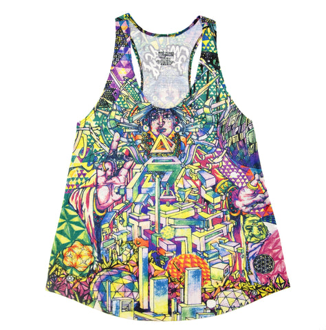 Sacred City Womens Tank Top