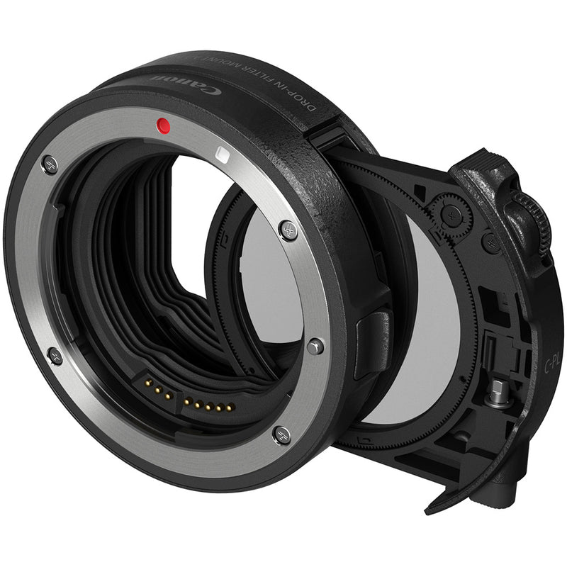 Canon Drop-In Filter Mount Adapter EF-EOS R With Circular Polarizer