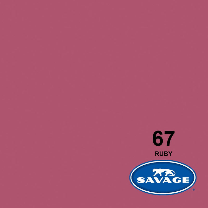 "Savage 107""x12 Yards Seamless Paper Background - Ruby"