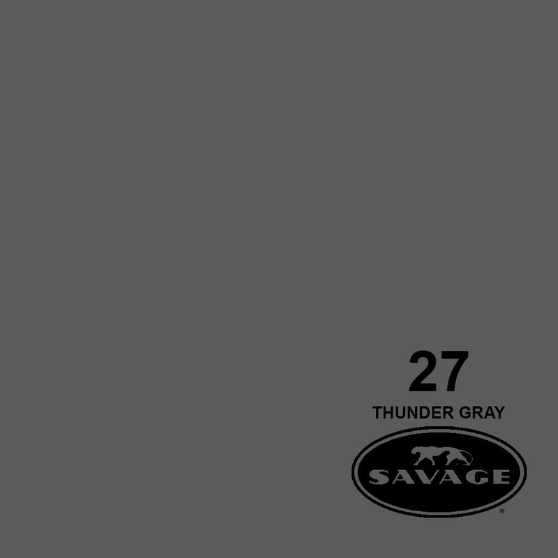 "Savage 86""x12 Yards Seamless Paper Background - Thunder Grey"