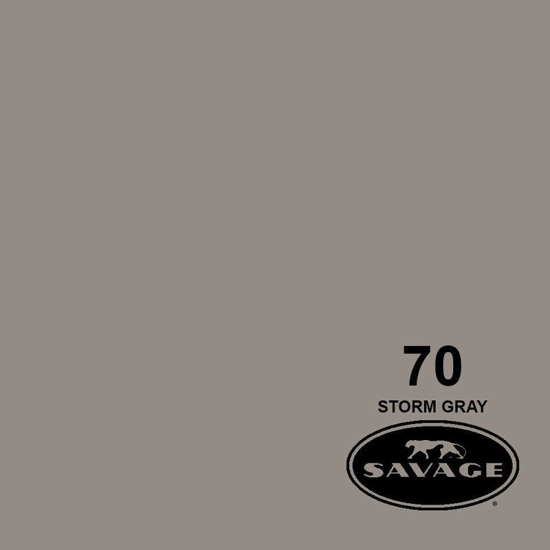 "Savage 86""x12 Yards Seamless Paper Background - Storm Grey"