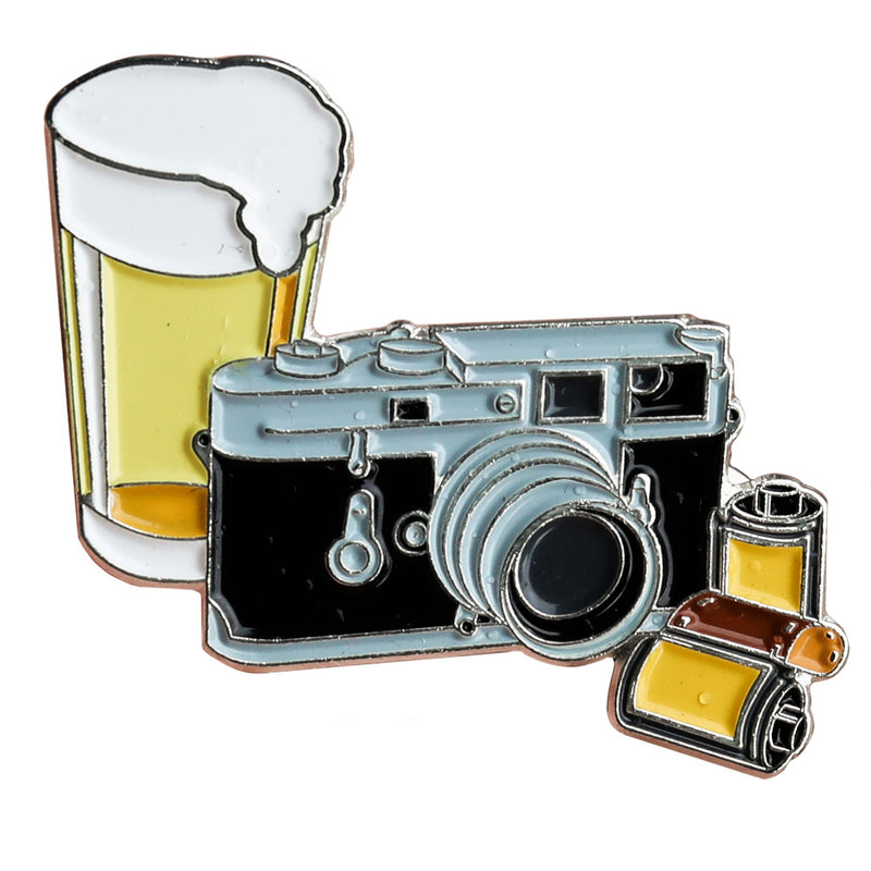 Beers and Cameras ShootFilmCo Pin