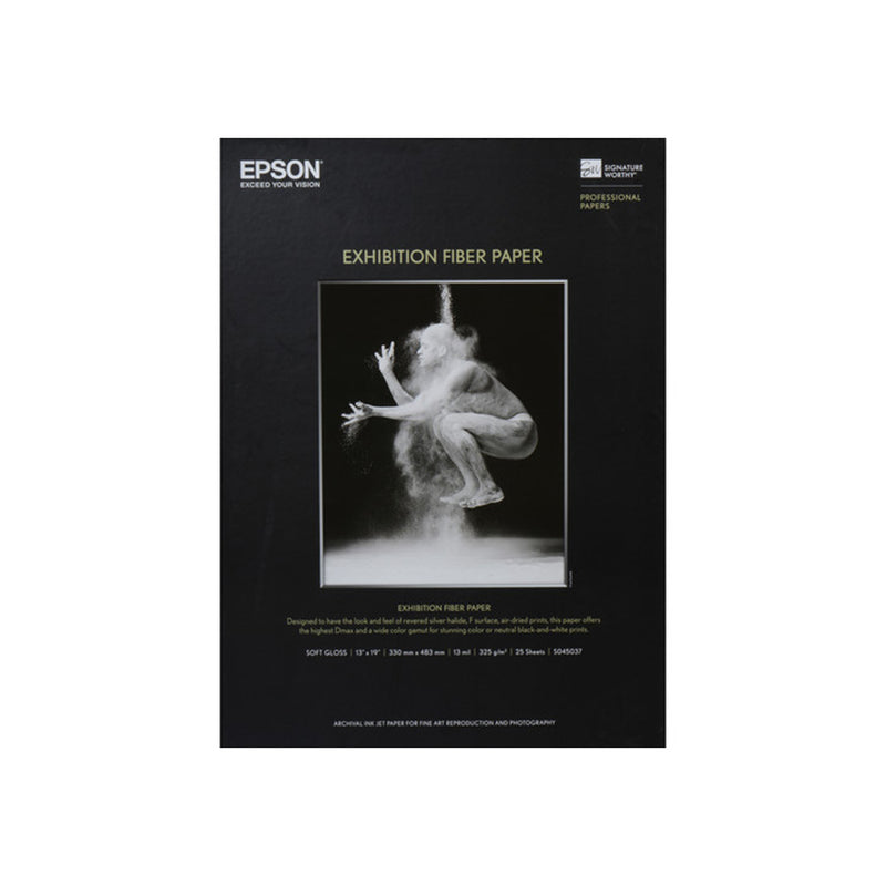"Epson 8.5x11"" Exhibition Fibre - 25 sheet"