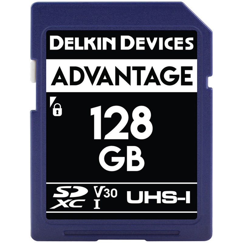 Delkin Advantage 128GB SDXC 660x V30 Memory Card