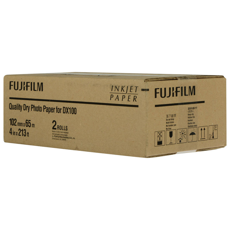 "Fujifilm 4""x213' Inkjet Photo Paper for DX100 Printer - Glossy, 2 Rolls"