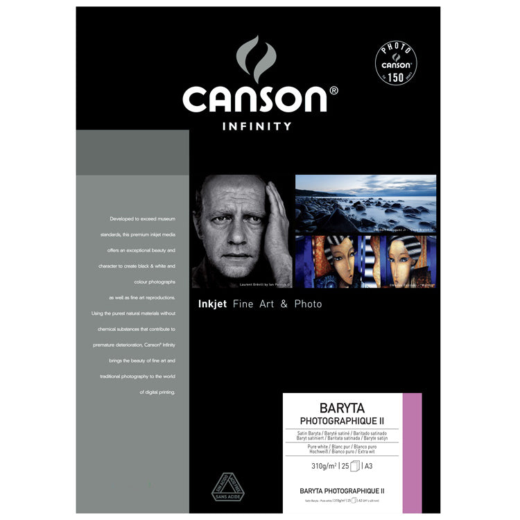 "Canson 13x19"" Baryta Photographique II 310gsm - 25 sheets"