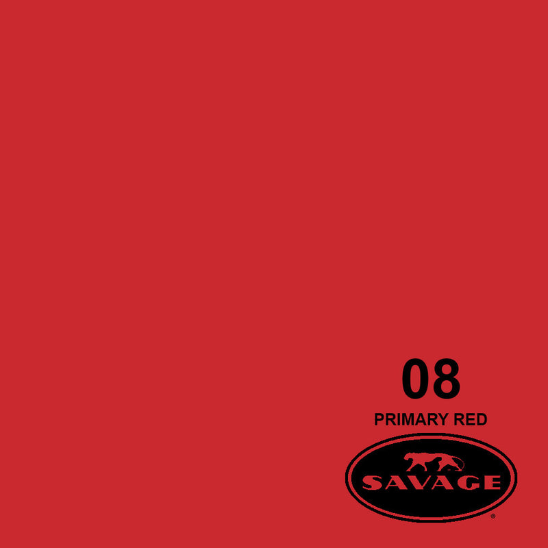 "Savage 107""x12 Yards Seamless Paper Background - Primary Red"