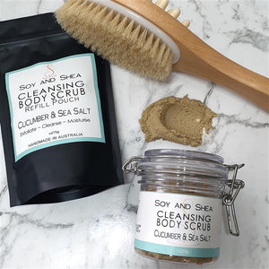 Cucumber & Sea Salt Cleansing Body Scrub