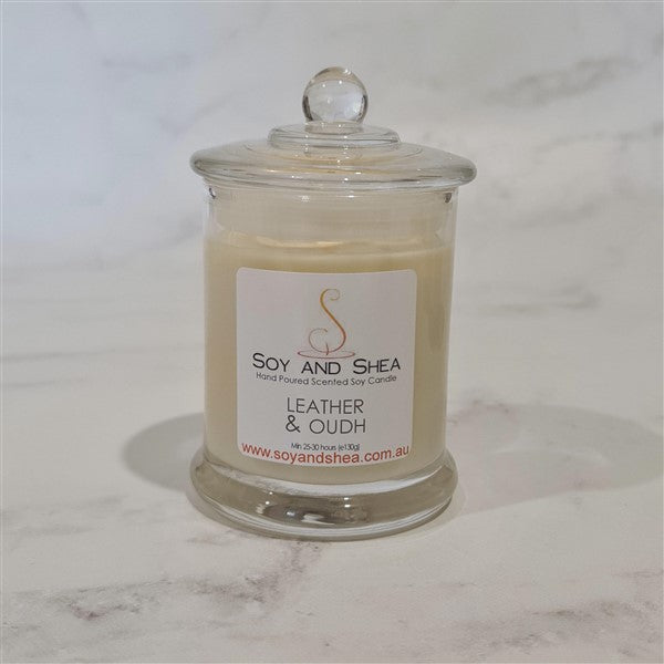 Leather and Oudh Soy Candle