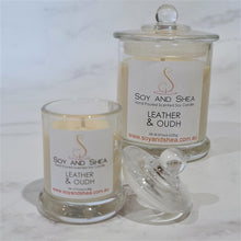 Load image into Gallery viewer, Leather and Oudh Soy Candle