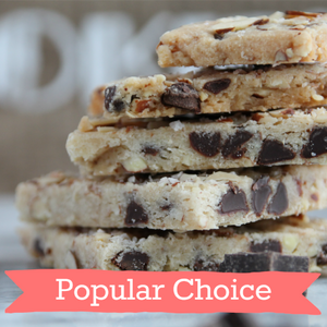 Almond + Chocolate Chip Cookie Bark - Flour & Oats Artisan Cookies