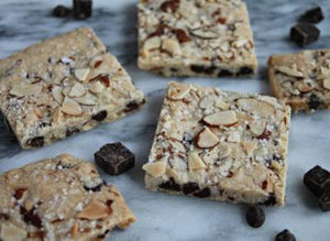 Almond + Chocolate Chip Cookie Bark