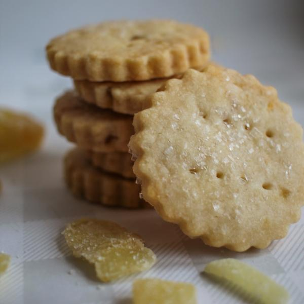 Ginger Lemon Shortbread - Flour & Oats Artisan Cookies