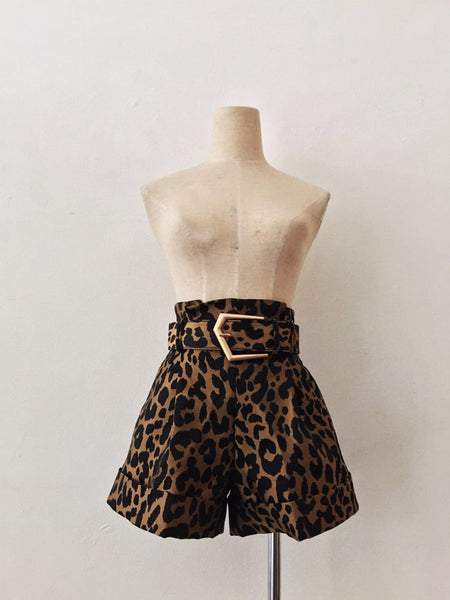 SAFARI PAPERBAG BELTED SHORT