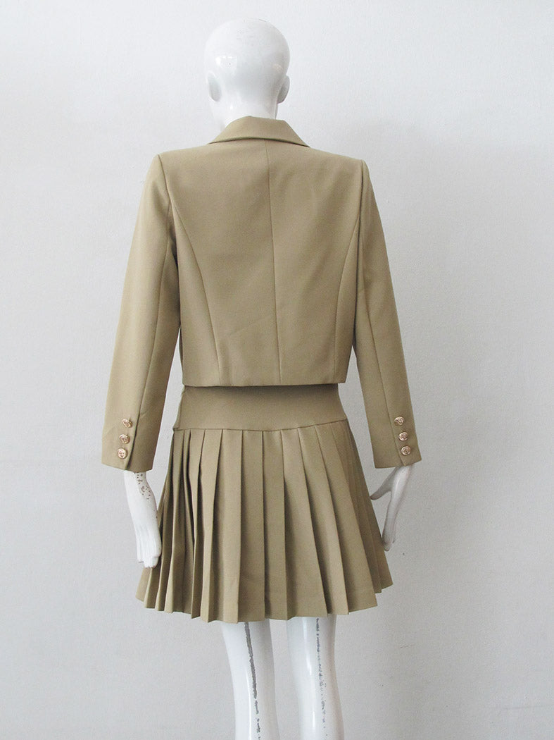 TAILORED BLAZER WITH PLEATED MINI SKIRT
