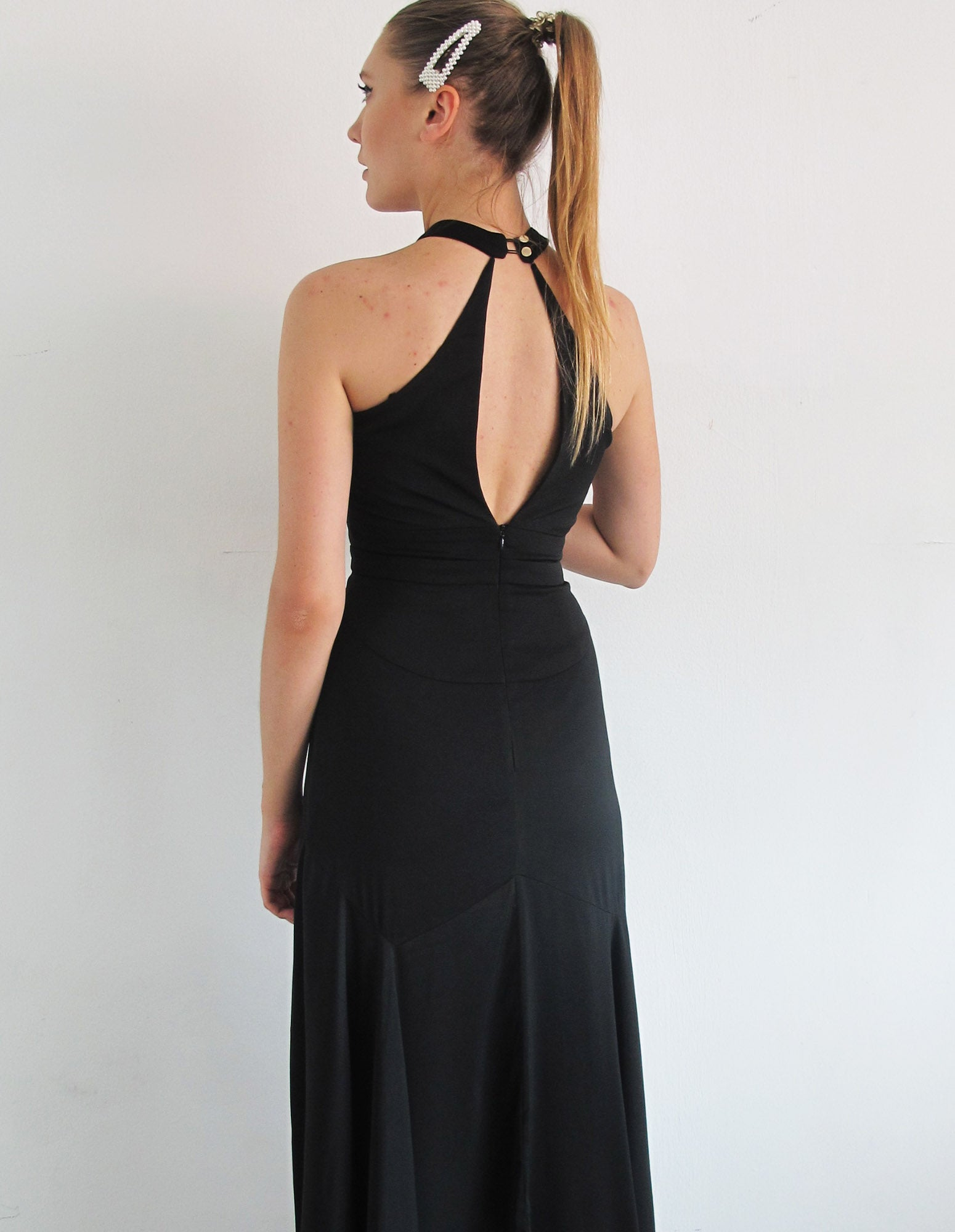 SEXY HALTER NECK DRESS