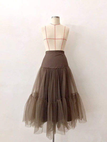 PARIS MESH TIERED SKIRT