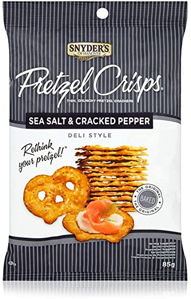 Pretzel Crisps Sea Salt & Pepper 85g  8 stk í ks