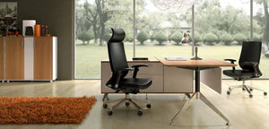 Potenza Desk with Return fixed height - Single Person Desk - new-office-au