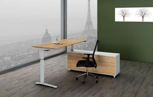 Potenza Height Adjustable Executive Desk - sit to stand - new-office-au