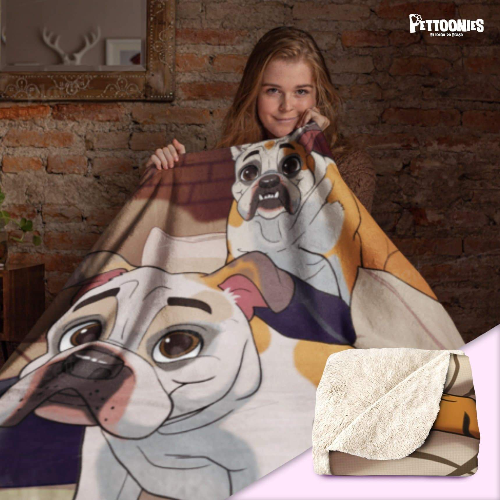 Pettoonies Sherpa Fleece Blanket