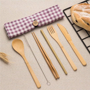 High Quality Bamboo Cutlery Set - ecologiks