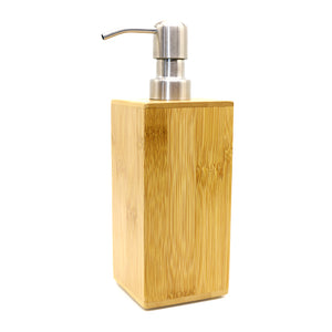 Bamboo Wood Refillable Soap or Lotion Dispenser - ecologiks