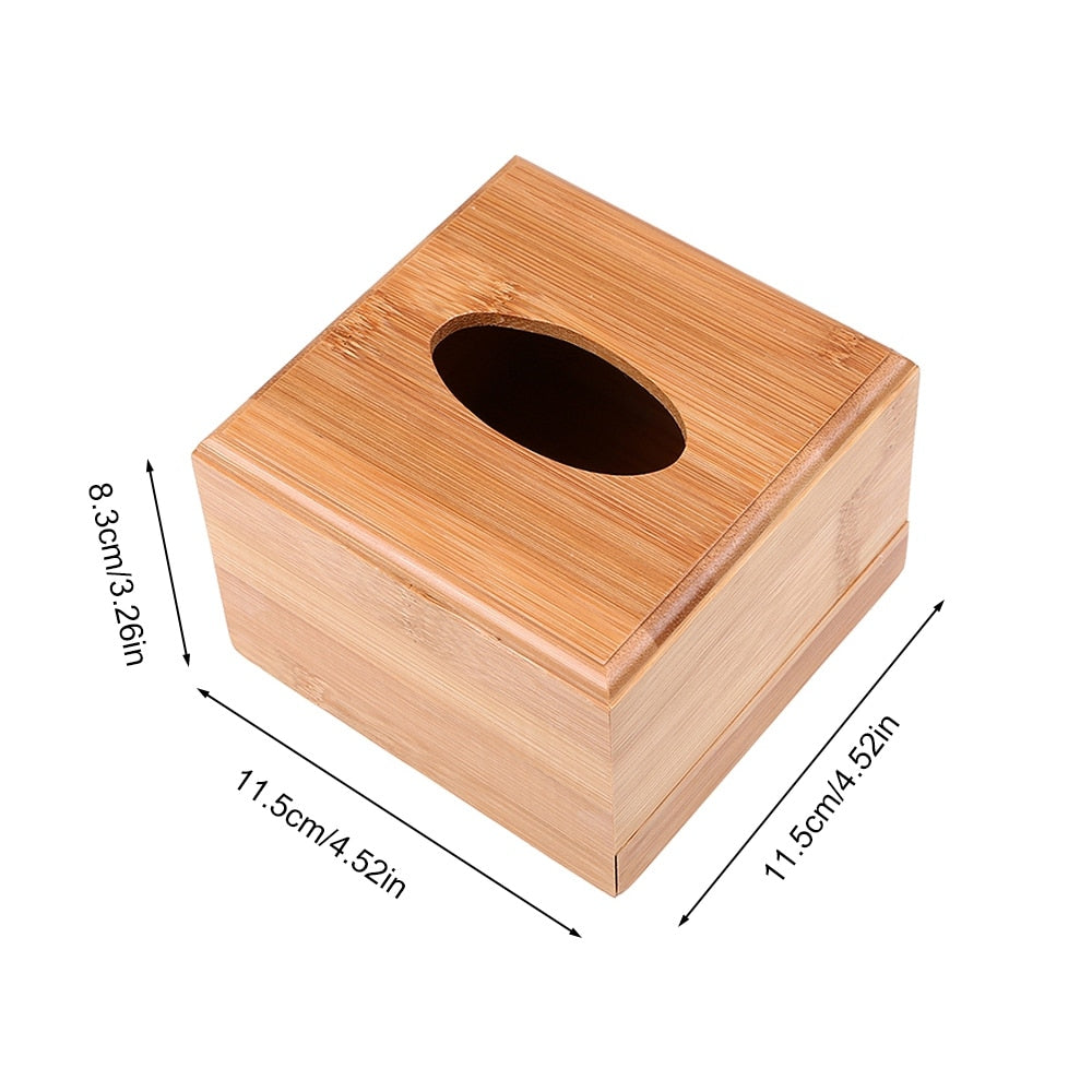 Bamboo Tissue Box Cover - ecologiks